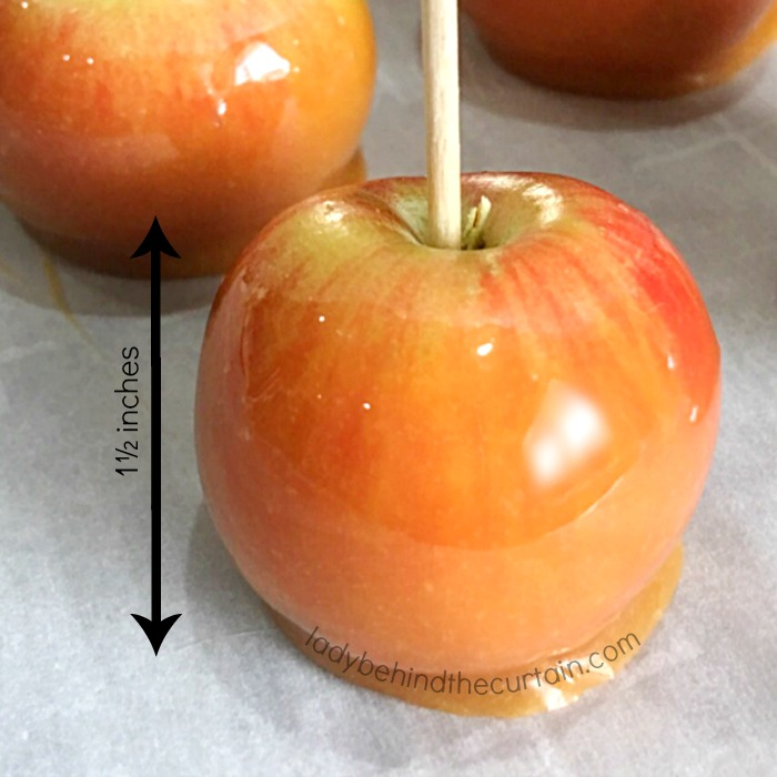 Mini Caramel Apple Cupcake Toppers