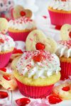 Strawberry Cream Filled Valentine's Day Party Cupcakes