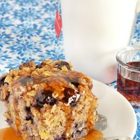 Blueberry Banana Nut Baked Oatmeal