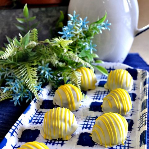Blueberry Lemon Truffles