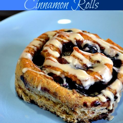 Blueberry Wheat Cinnamon Rolls