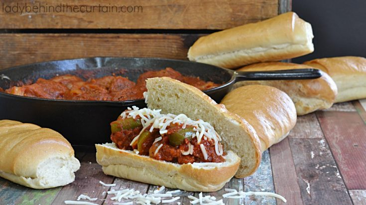 Easy Saucy Meatball Sandwich
