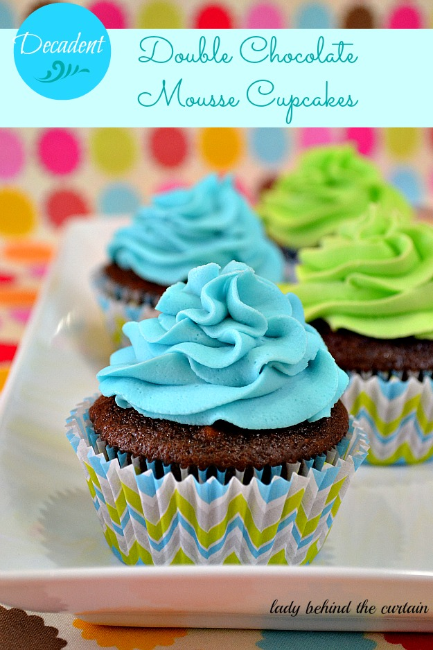 Decadent Double Chocolate Mousse Filled Cupcakes
