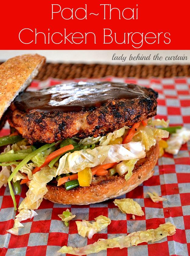 Pad Thai Chicken Burgers