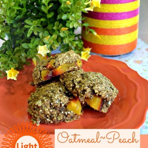 {Light} Oatmeal Peach Snack Cookies
