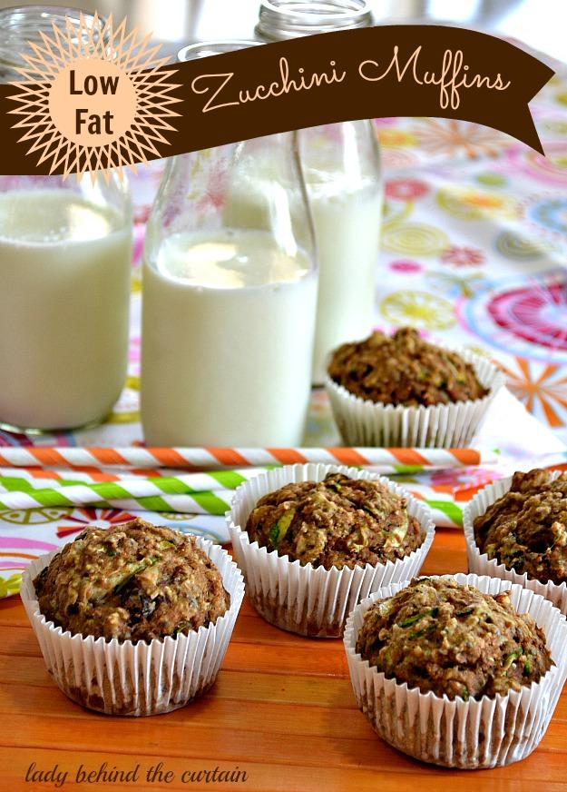 {Low Fat} Zucchini Muffins