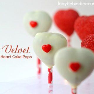 Red Velvet Heart Cake Pops