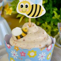 Hummingbird Cupcakes with Banana Cream Frosting