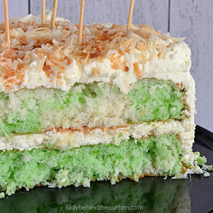 Semi Homemade Coconut Lime Fiesta Cake