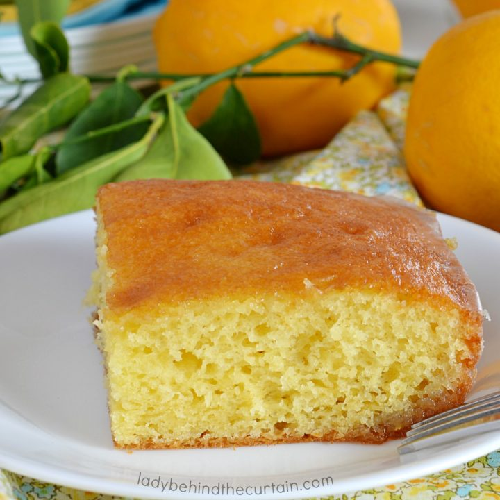 Semi Homemade Glazed Lemon Cake