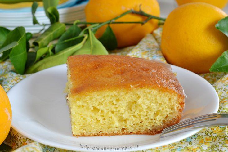 Semi Homemade Glazed Lemon Cake