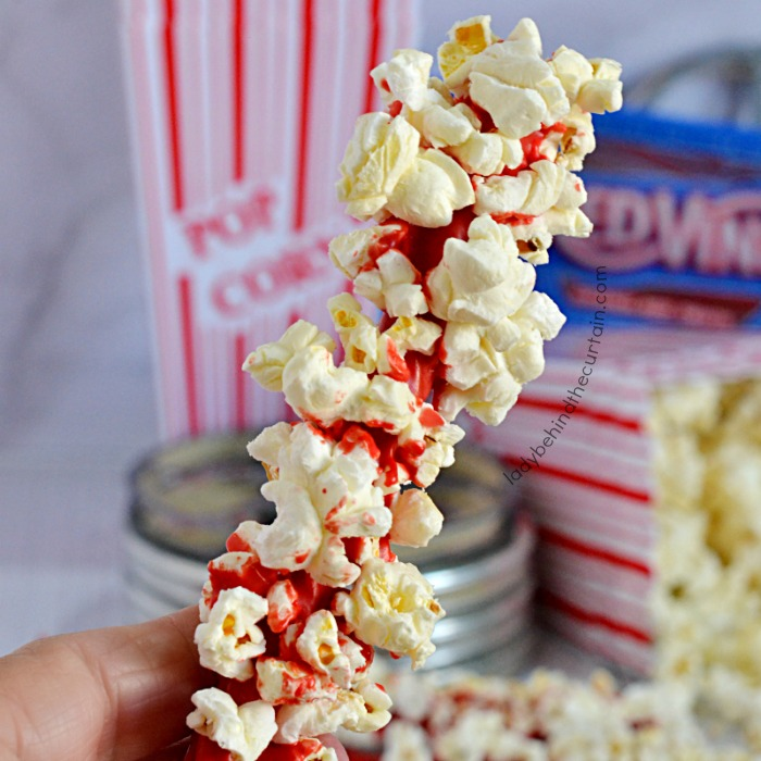 Movie Night Candy Coated Licorice with Popcorn Treat