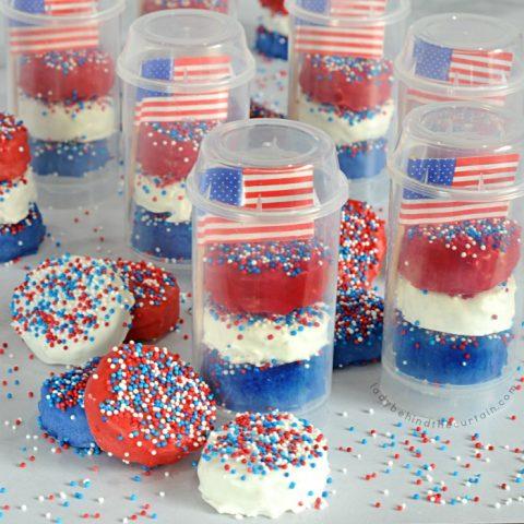 Patriotic Rice Krispy Poppers