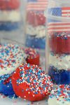 Patriotic Rice Krispie Poppers