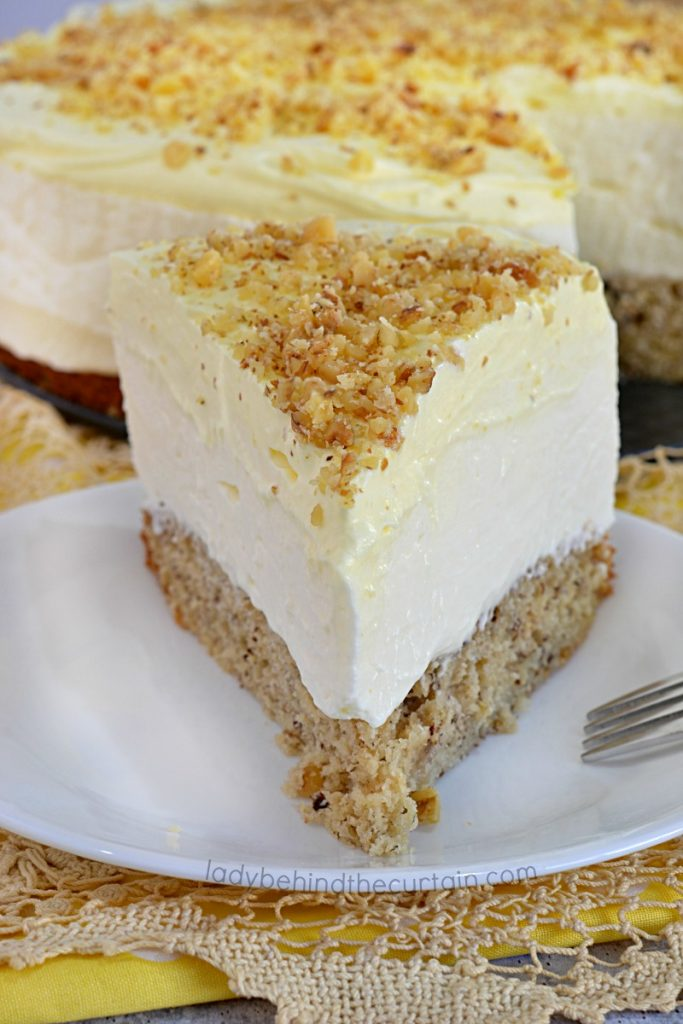 Banana Bread No Bake Cheesecake