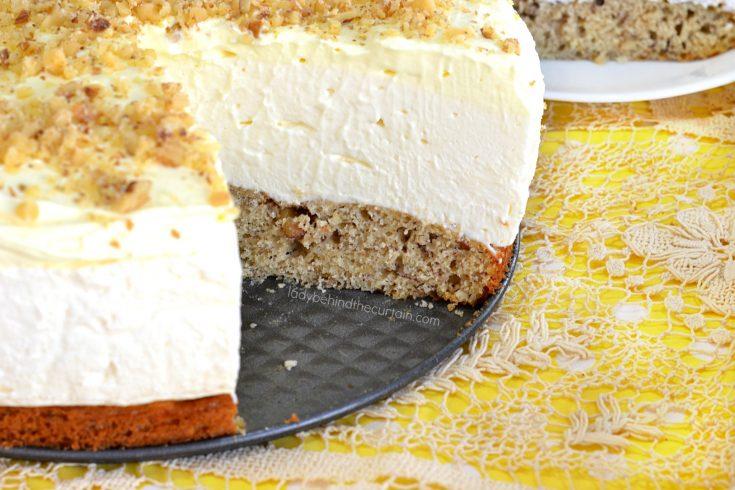 Banana Bread No Bake Cheesecake