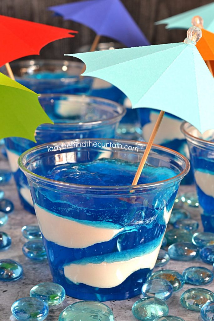 Blueberry Cream Pool Water Jello Cup