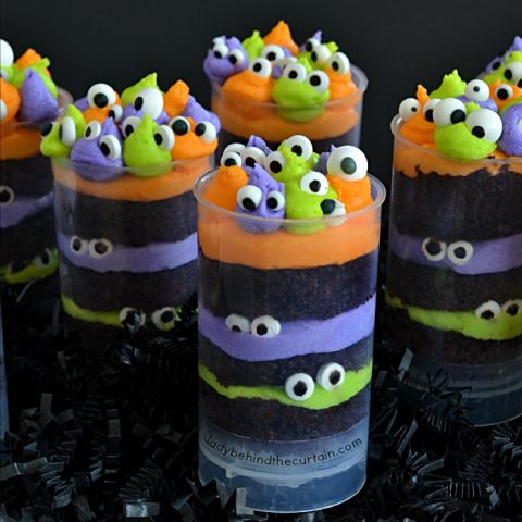 Monster Party Halloween Cupcakes