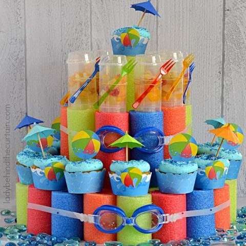 Pool Noodle Cupcake Stand