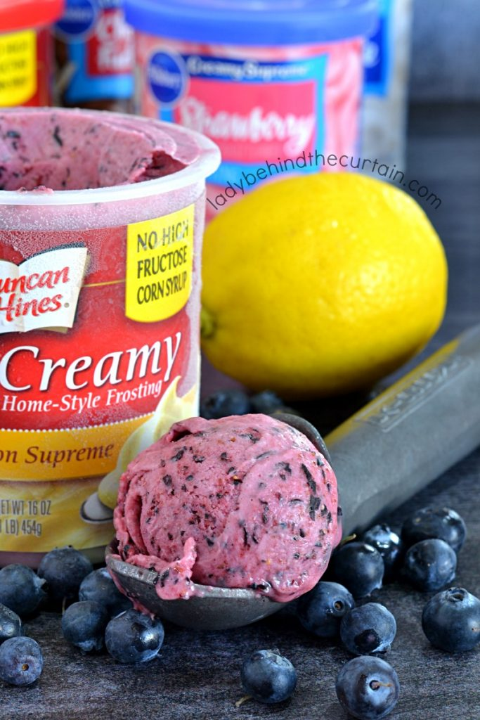 Semi Homemade Blueberry Lemon Ice Cream