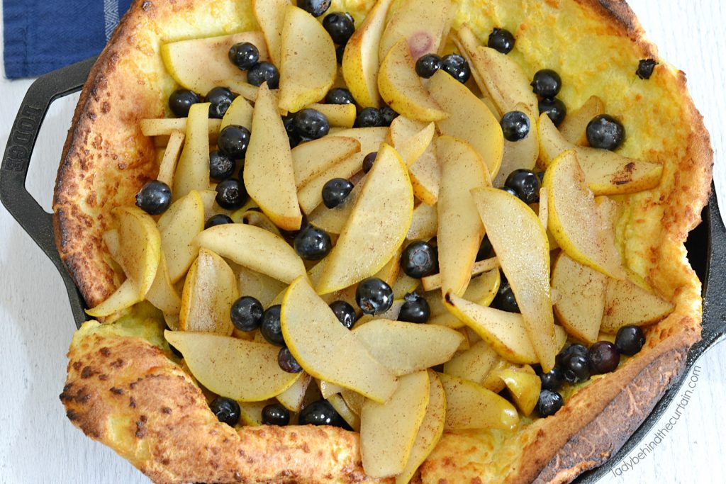 Blueberry Pear Dutch Pancake