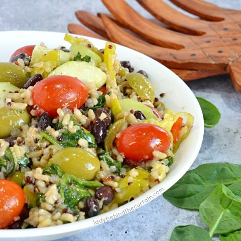 Brown Rice and Quinoa Salad