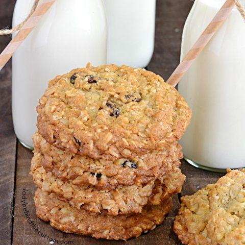 Classic Chewy Homemade Oatmeal Raisin Cookie Recipe