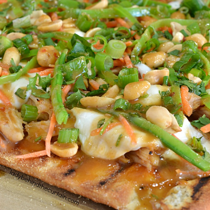 Semi Homemade Grilled Pad Thai Pizza