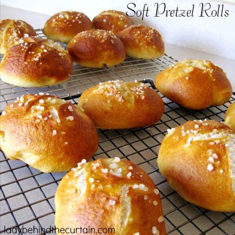 Soft Pretzel Rolls