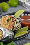 Southwestern Make Ahead Chicken Burritos