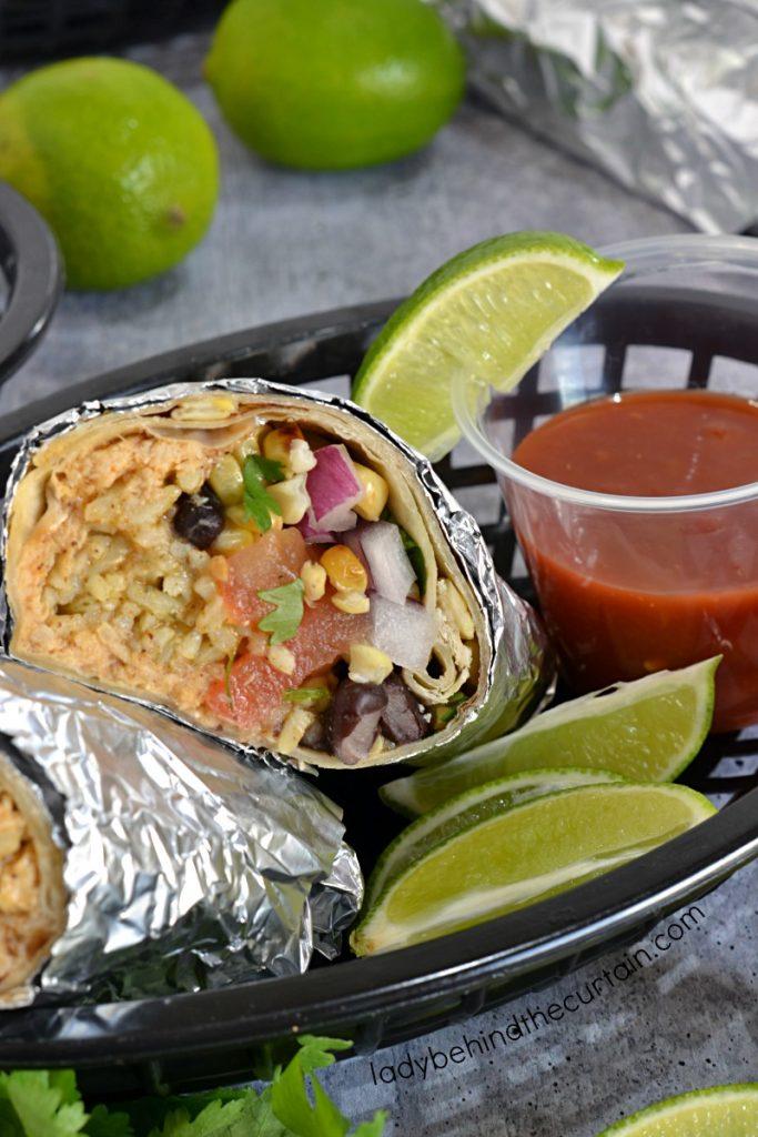 Southwestern Make Ahead Chicken Burritos