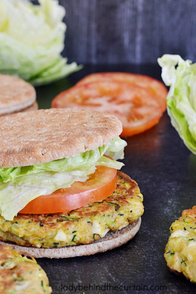 Summer Garden Fresh Zucchini Burgers