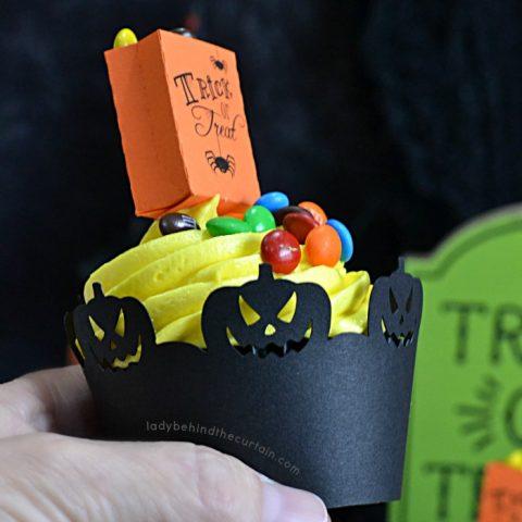Banana Pecan Trick or Treat Halloween Cupcakes