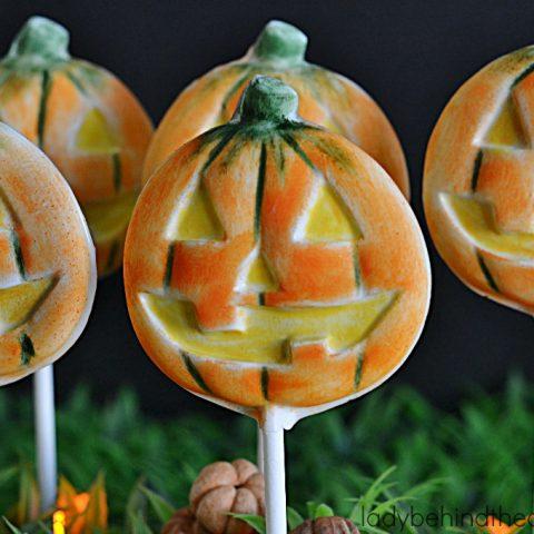 Brushed Halloween Pumpkin Pops