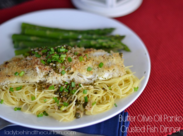 Butter Olive Oil Panko Crusted Fish Dinner