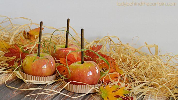 Butterscotch Candy Apples