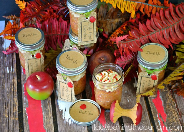 Candy Apple Cupcake Party Favors