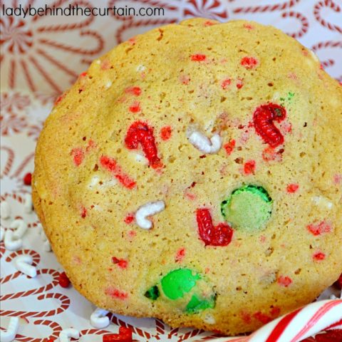 Candy Cane Pudding Cookies