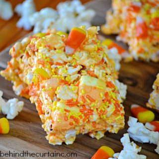 Candy Corn Popcorn Chewy Halloween Bars