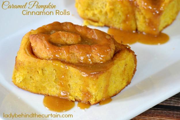 Caramel Pumpkin Cinnamon Rolls
