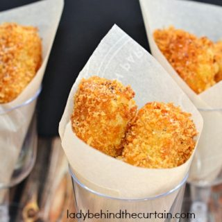 Cheesy Roasted Garlic Potato Croquettes