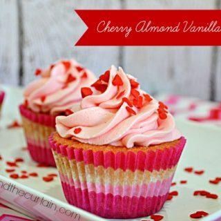 Cherry Almond Vanilla Cupcakes