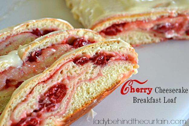 Cherry Cheesecake Breakfast Loaf