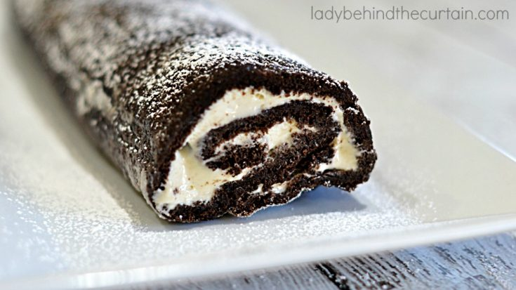 Chocolate Marshmallow Cream Cake Roll