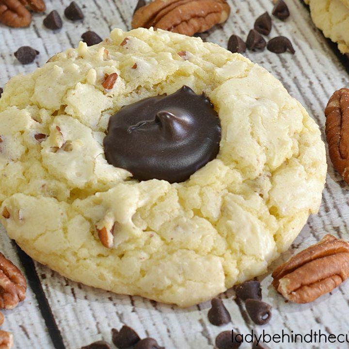 Chocolate Pecan Thumbprint Cake Mix Cookie Recipe