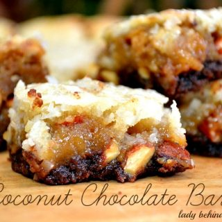 Chocolate Shortbread with Coconut Topping Bars