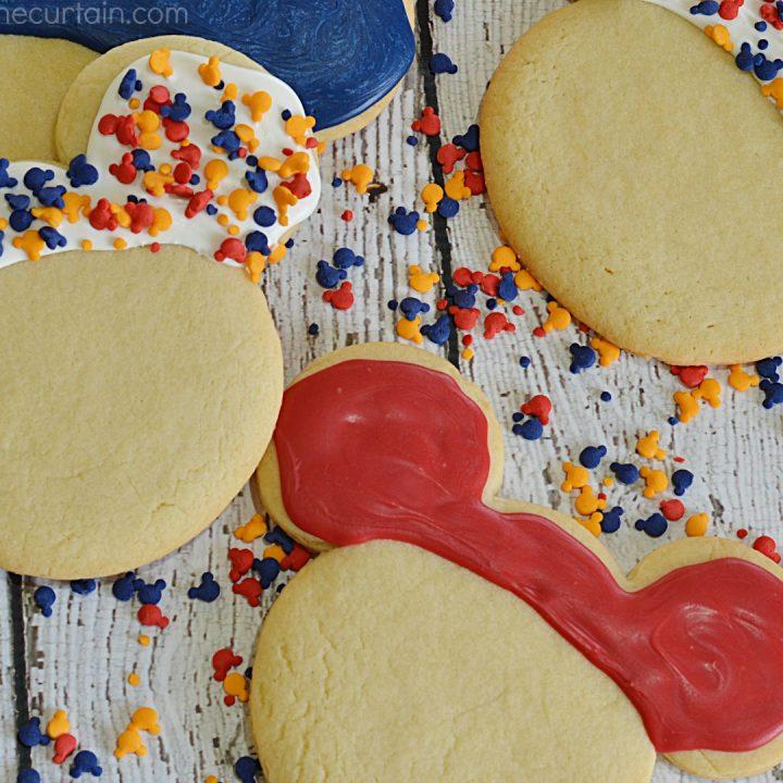 Copycat Disneyland Mickey Mouse Sugar Cookies