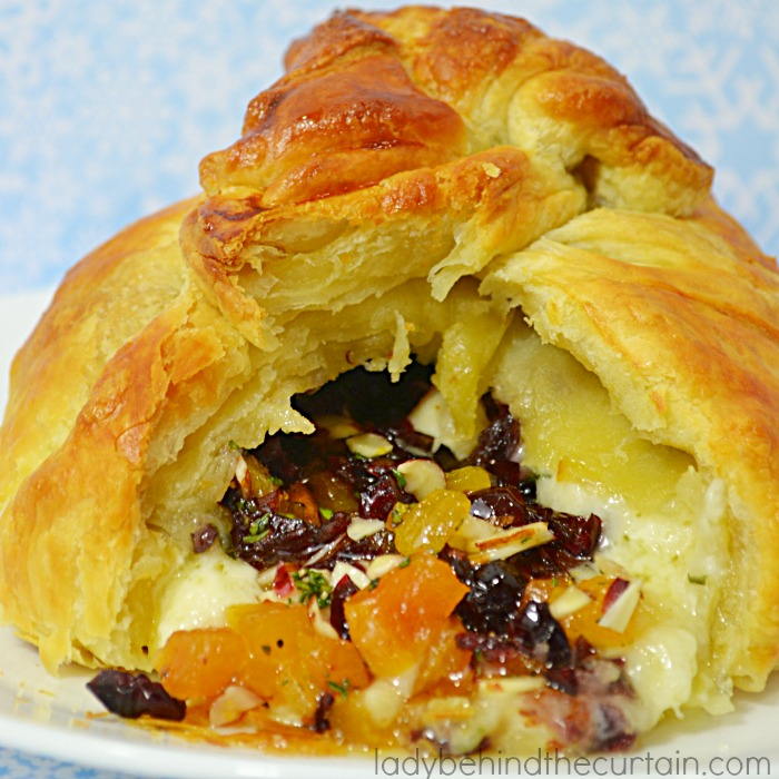 Cranberry Apricot Baked Brie