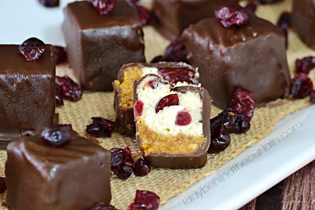 Cranberry Cheesecake Bites