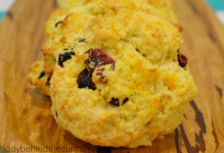 Cranberry Orange Drop Biscuits